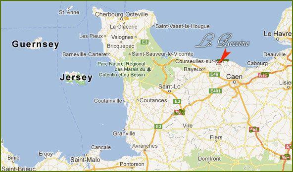 La bessine chambre d 39 h te normandie calvados plages du d barquement g ographie - Chambres d hotes plages du debarquement ...